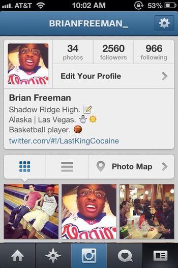 Follow me on instagram: Brianfreeman_