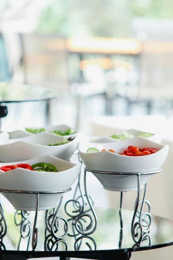 food salad in