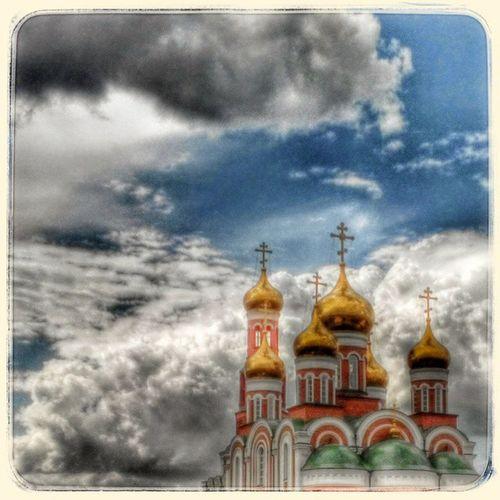 Купола и облака Domes & cloudes Dome Clouds Skyseaclouds Omsk Siberiansummer Siberia May Cathedral Church омск сибирь небомореоблака собор храм Церковь золотые купола май