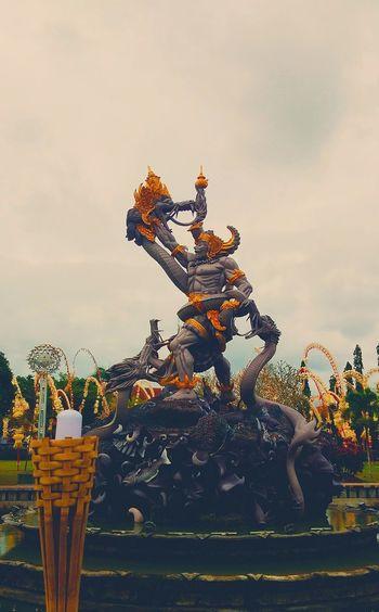 Bima Sakti Statue Big Statue Dragon Strong Power In Nature Power Fountain Park Grey Grey Sky Sunset Rock Fight Worrior HERO Sky Amusement Park