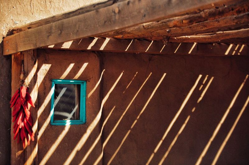 New Mexico Shadow Pueblo Taos Pueblo Taos Turquoise Chilis