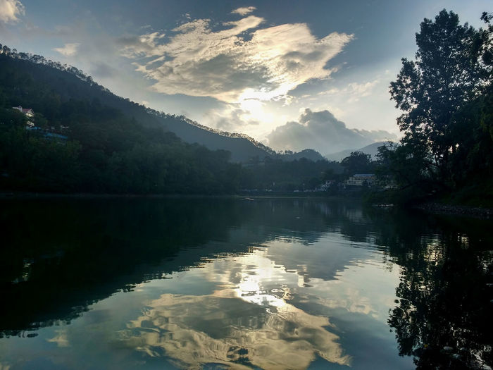 Reflection Lake Mountain Water Scenics Nature Tree Landscape Tranquil Scene Beauty In Nature Outdoors Sky No People Beauty Day India Lake View Wallpapers Bhimtal, Uttarakhand Nature Photography Cloud Pattern Nature Artistic Evening Perspectives On Nature Be. Ready.