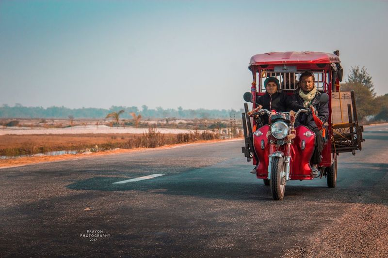 """Commonly used transportation at Terai also known as """"City Safari"""". Jan 2017,Terai Nepal. Outdoors Road Transportation Plainland Travel Easternnepal Terai Adapted To The City Adapted To The City"""
