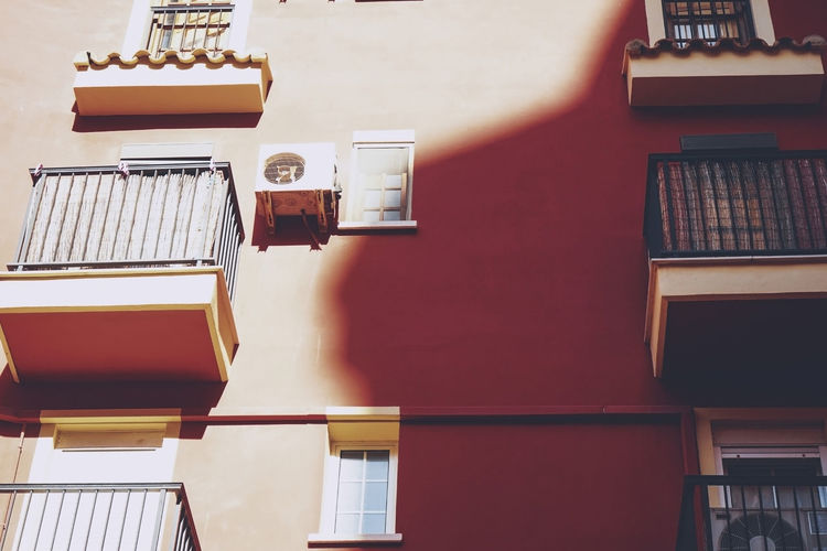 Low angle view of books in building