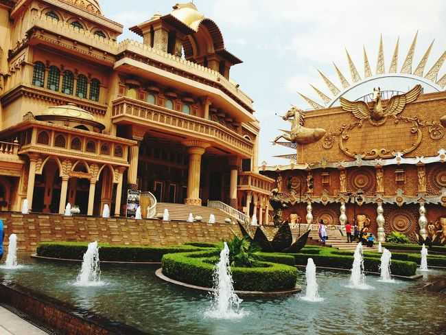 22. Architecture Built Structure City Building Exterior No People Water Outdoors Day Vintage Photo Nexus 5 Flying High EyeEmNewHere Kingdomofdreams Gurgaon Gurgaondiaries Textured  Gurgaontimes Full Frame Top View High Angle View Old-fashioned Palaces Palace Theatre  Live For The Story