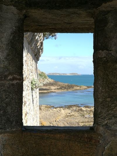 View From The Saint-Malo Battlement Sea Manche France Historical Monuments Through The Window Holidays Miles Away