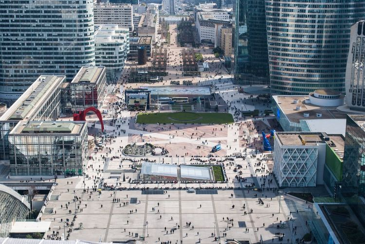 Embrace Urban Life la defense France Building Exterior Architecture High Angle View Built Structure City Cityscape Real People Aerial View Skyscraper Outdoors Travel Destinations Day Men People Large Group Of People Picture Photo Photography France Beauty In Nature Humanity Meets Technology