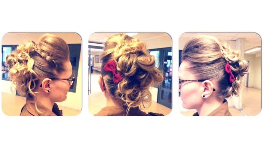 Bun ExamWeek Hairstyle Hairlight Hairlong Blonde Hair Hairdresser Long Hair, Don't Care. @Constance