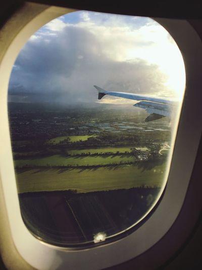 Landing ✈️ Air Vehicle Sky Cloud - Sky Vehicle Interior Window Mode Of Transportation Flying Journey
