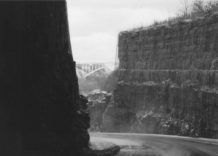 Road to the river Cliff Railway Steep Cliffs Along The Landscape. ThisWeek On EyeEm Bridge To Canada Cliff Falling Rock Nets No People Outdoors Road To River Steep Cliff