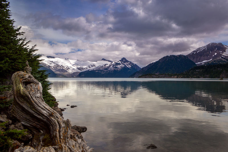 Garibaldi Provincial Park Garibaldi Lake Beauty In Nature Canada Cloud - Sky Cold Temperature Day Lake Landscape Mountain Mountain Range Nature No People Outdoors Reflection Scenics Sky Snow Tranquil Scene Tranquility Water Waterfront
