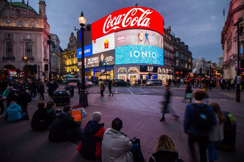 City Travel Destinations Large Group Of People Building Exterior Communication Illuminated Neon Outdoors People Architecture Adults Only Crowd Adult Piccadillycircus London Long Exposure The City Light
