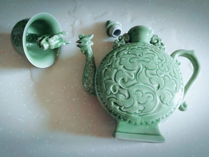Home Is Where The Art Is Wine Pot Of Wine Wineglass Dragon Head Taking Photos Enjoying Life Hello World Photography Moments Still Life Interesting Life From My Point Of View Green Chinese Porcelain Check This Out
