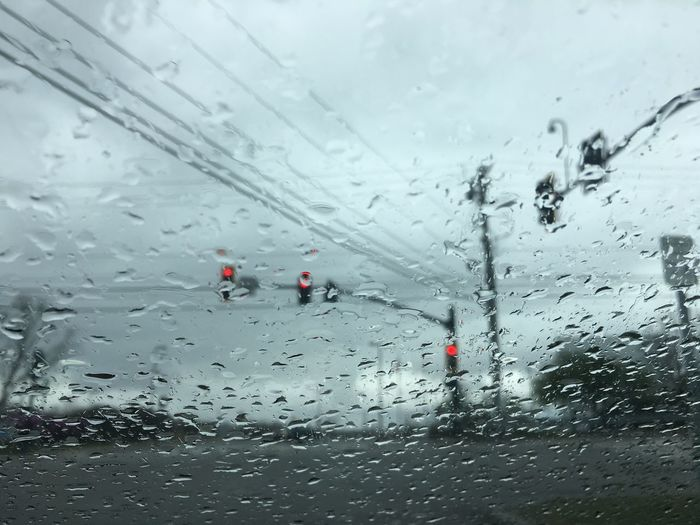 Abstract Rain Traffic Lights Signal Abstract Drop Water Wet Window Glass - Material Transparent Nature Rain RainDrop No People Car