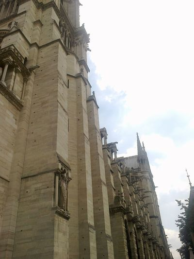 Paris Notre Dame De Paris Notre Dame De Paris Exterior Architecture History Travel Destinations Low Angle View Day No People Outdoors Ancient Civilization