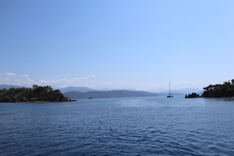 Boattrip Sea Boat Water Sky Scenics - Nature Sea Waterfront Beauty In Nature Tranquil Scene Blue Nature Outdoors