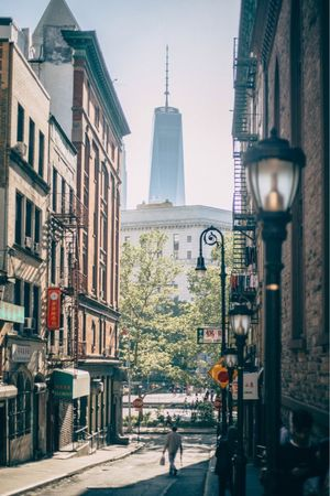 Architecture Building Exterior Built Structure Walking Street City Road Sign Street Light Transportation Real People Men Outdoors City Life Road Day Group Of People Full Length Pedestrian Sky Adult