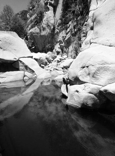 Beauty In Nature Black And White Blackandwhite Mountain Nature Outdoors Rier View Rock Rock - Object Rocky Mountains Tranquil Scene Tranquility Tranquility Water Waterfront