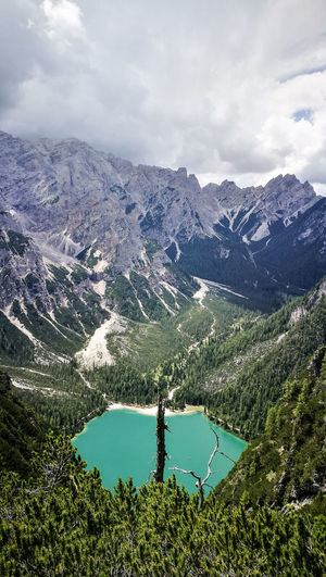 Mountains Mountain And Lake Mountain View Lake Sky Colors Oldtree Dolomiten Dolomites, Italy Dolomiti Italy Tree