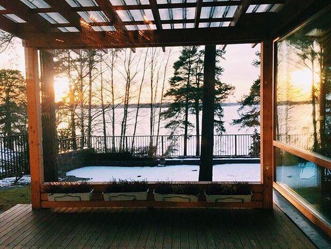 Helsinki Finland Sunset Winter Sea Munkkiniemi Sun Frozensea VSCO