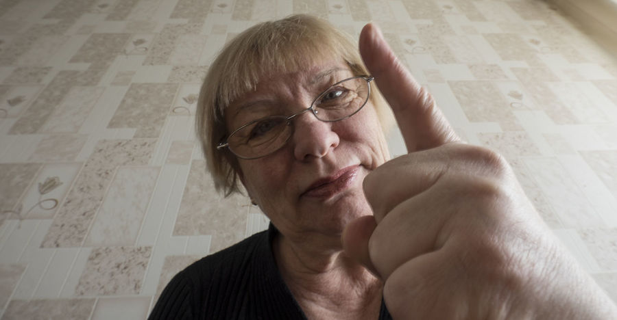 Funny photo middle aged woman threatened with the index finger to the viewer Adult Adults Only Aged Close-up Day Finger Funny Human Body Part Human Hand Index Indoors  Middle One Person Only Men People Photo Senior Adult Threatened Viewer Woman Women