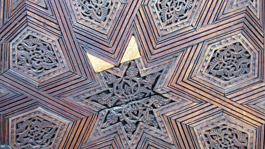 Full Frame Shot Of Wooden Carving