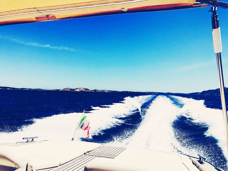 Flag Italy Porto Cervo, Sardinia No People Outdoors Day Blue Summer Relaxing Boat Sun Great Weather Ocean Medsea Midsummer