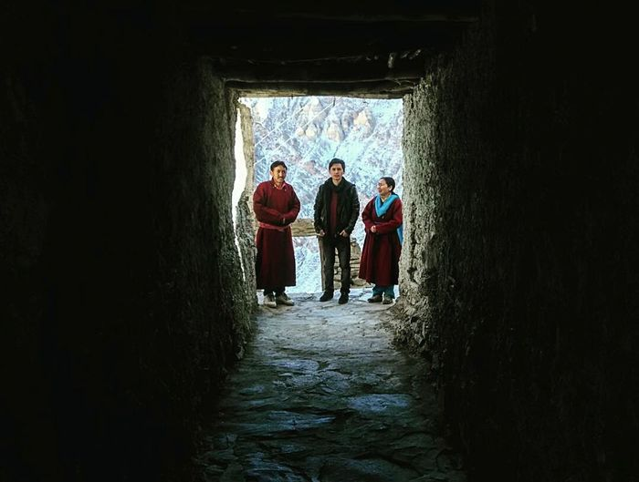 Time With Family 😀 Parents ❤❤❤ People Parents Front View Leh Leh Ladakh Ladakhdiaries Ladakhi Dress Traditional Costume Snow Outdoors Eyemphotography EyeEm Best Shots EyeEmBestPics Eyem Gallery Redmi1s Landscape Scenics Lamayuru Monastery Corridor Three People
