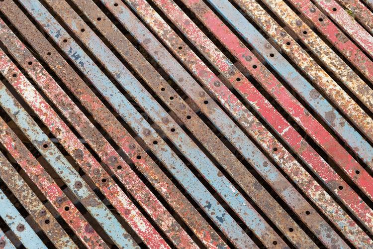 Full frame shot of rusty metallic wood