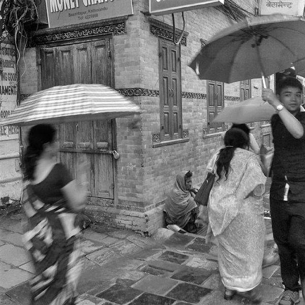 People Umbrella Rain Life Lifestyle Dailylife Architecture Street Basantapur Blackandwhitephotography Mobilography Streetphotography Streetphotographers Kathmandu Nepal