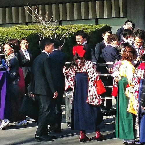 Kimonos Hakama Boots 70000 Graduates Biggest University in tokyo and in japan Streetphotography Tokyospring2016 March 2016 University Graduation EyeEm Japan EyeEM Tokyo EyeEm Gallery Eyeem Spring Eyeem Streetphotography