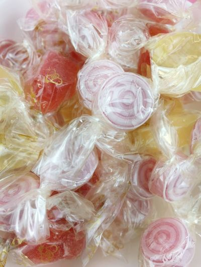 hard candies Fruit Candy Hard Candy  Full Frame Backgrounds Food And Drink No People Still Life Indoors  Close-up Sweet Food Sweet Pink Color High Angle View