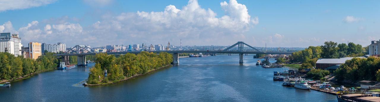 Panoramic view of bridge over river