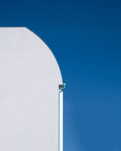 Blueskybuildingpart Architecture No People Built Structure Day Ralfpollack_fotografie Fujix_berlin Sky Clear Sky Copy Space Blue Building Exterior Outdoors Sunny Building Wall - Building Feature Minimalism Minimalist Photography