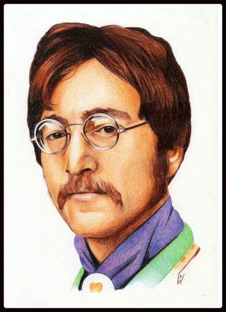 Check This Out Portrait Art John Lennon my colour pencil portrait of John Lennon