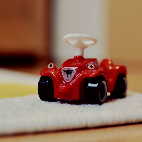 Close-up of toy car