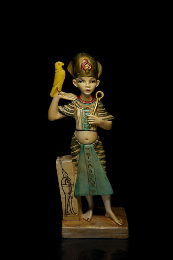 Black Background Close Up Egypt Egyptian Figurine  Light Box Light Tent Low Key Miniature Still Life