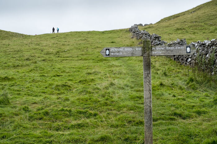 Settle, Yorkshire Dales Beauty In Nature Day Grass Hiking Landscape Meadow Nature Outdoors Scenic Scenics Tranquility Tree Trees Walking Yorkshire Yorkshire Dales Signpost Pennine Way Two People