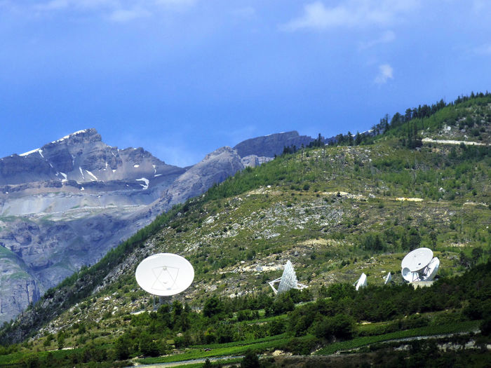 Satellite Dish Radio Old Technology Sky White Space Antenna Blue Hill Telecommunication Business Tower Green Digital Communication Wave Internet Cloud Connection Data Wireless Communicate Pollution Transmission Broadcast Signal Nature Mountain Top Hill Europe