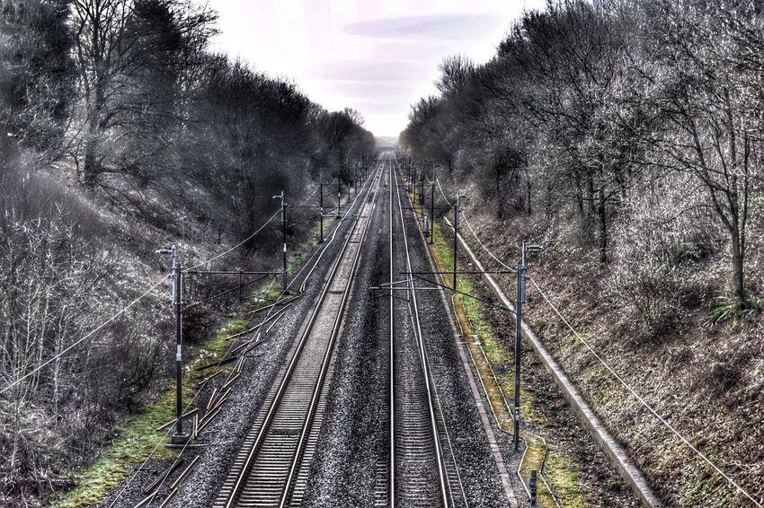 Railway Railroad Railwaytrack Train Tracks Train Line