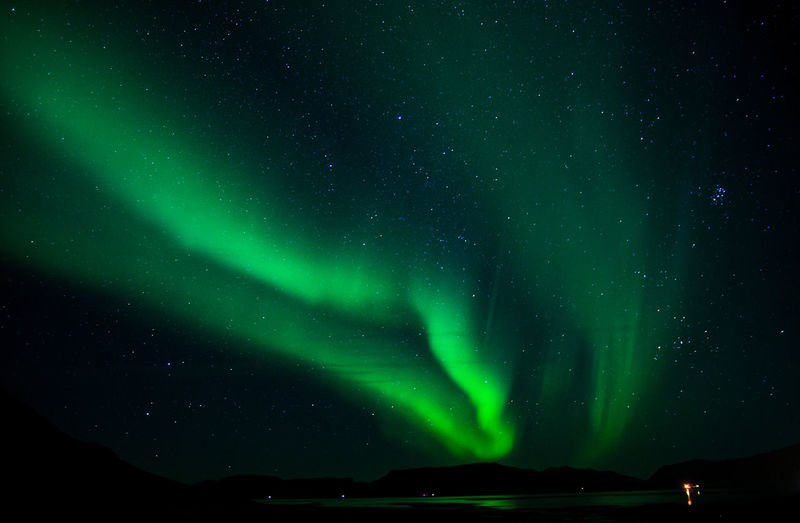 Night Beauty In Nature Scenics - Nature Sky Space Green Color Star - Space Astronomy Tranquil Scene Tranquility No People Nature Aurora Polaris Low Angle View Star Environment Star Field Non-urban Scene Illuminated Outdoors Iceland Aurora Borealis Northern Lights Magical Magic Moments