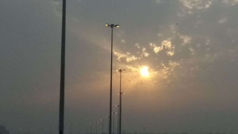 Jeddah Airport Road Sunset Sun Water Sky Close-up Cloud - Sky
