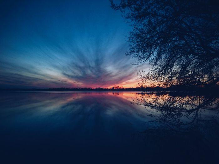 Rajgród, Poland. Reflection Sky Lake Nature Beauty In Nature Water Blue Scenics Sunset Dramatic Sky Cloud - Sky Landscape Horizon Over Water EyeEm Best Edits VSCO EyeEm Best Shots The Great Outdoors - 2017 EyeEm Awards