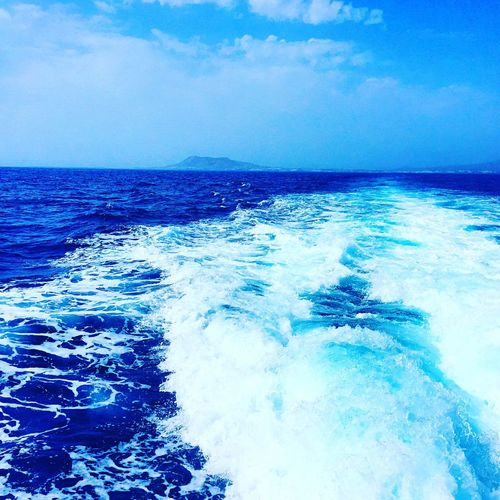 Fueteventura Ferry Lanzarote Sea Happiness Boat Ride Relaxing Waves