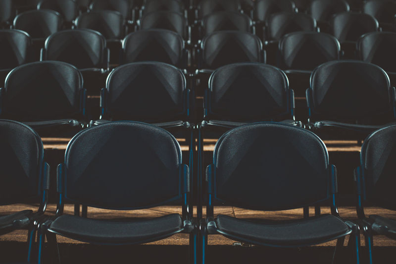 Auditorium Chair In A Row Indoors  Large Group Of Objects No People Seat University Welcome To Black