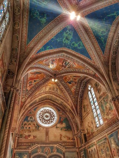 Basilica of St Francis of Assisi, basilica, cathedral, ceiling, painted, Assisi, St Francis, Umbria, Italy, architecture history travel destinations religion place of worship, basilica of St Francis of Assisi, cathedral, St Francis The Week On EyeEm