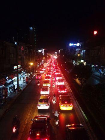 Traffic Jam Traffic Night Lights Car On The Road Road Trafficlight Trafficjam Traffic Signal