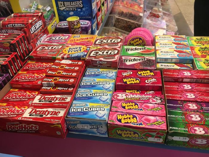 Candy Text Food And Drink For Sale Variation Retail  Large Group Of Objects Communication Choice No People Abundance Day Stack Consumerism Store Food Market Close-up Multi Colored Price Tag Indoors