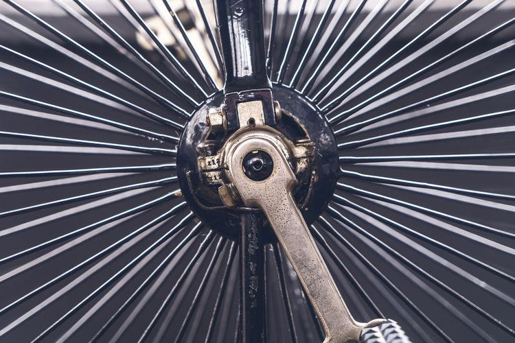 Detail shot of machine part