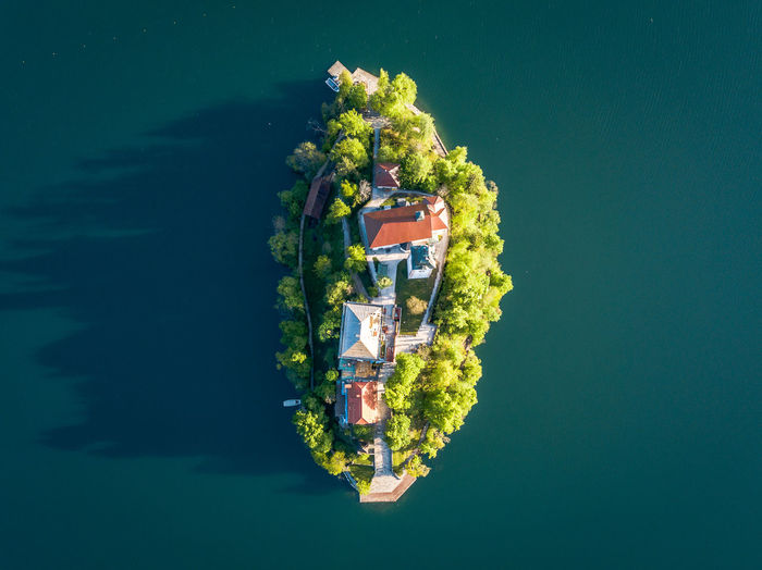 Water Nature No People Sea Nautical Vessel Green Color Waterfront Transportation Outdoors Mode Of Transportation Day Travel High Angle View Directly Above Motion Blue Beauty In Nature Scenics - Nature Tranquility